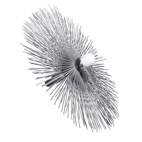 Brosse Ø 25 cm acier plat