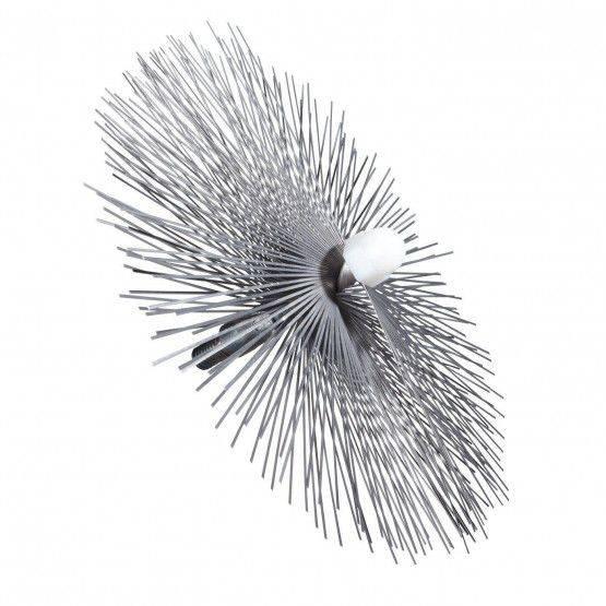 Brosse Ø 20 cm acier plat