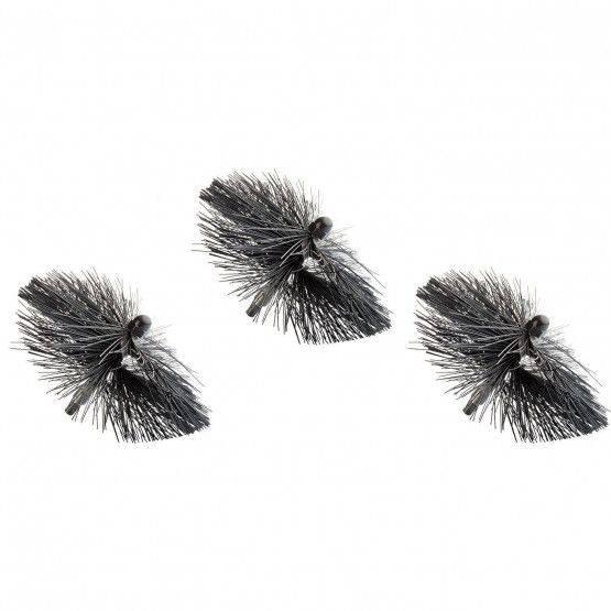 Lot de 3 brosses souples en nylon
