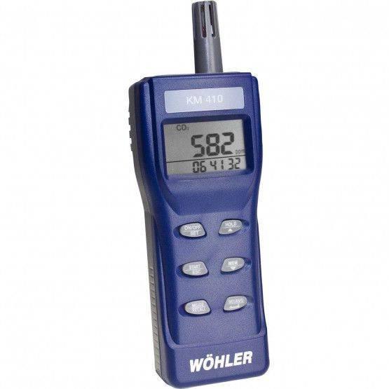 Wöhler KM 410 Indicateur et enregistreur de CO2 – portable