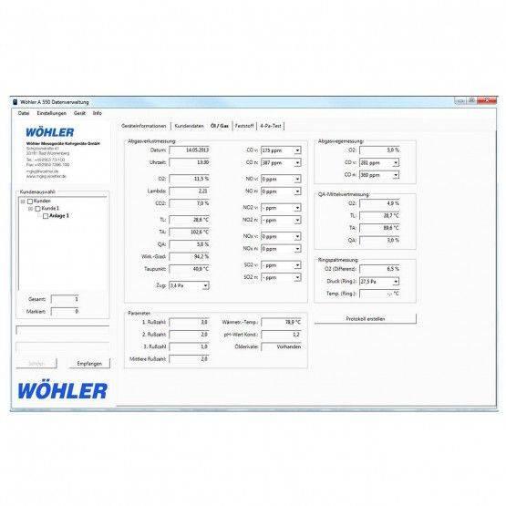 Logiciel Wöhler A 550 pour PC