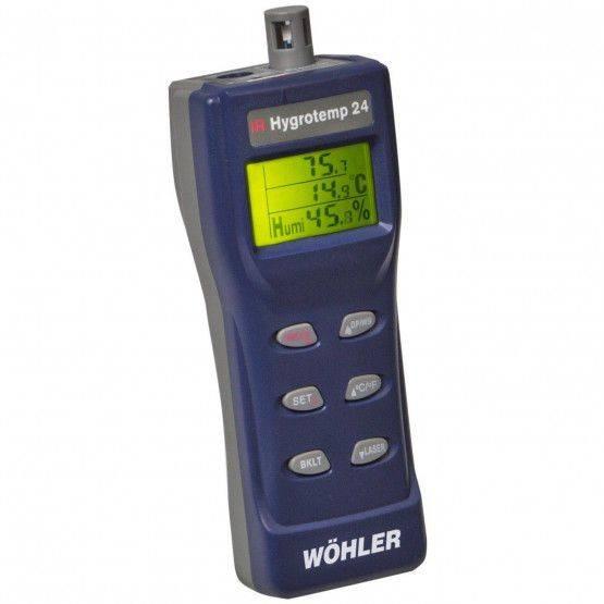 Wöhler IR Hygrotemp 24 Thermo-Hygromètre infrarouge